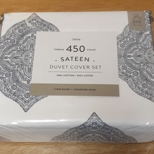 Bed Bath Beyond twin duvet cover set 450 TC cotton